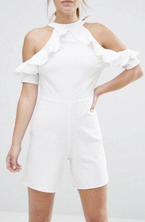 Alter Vestido estilo flounce blanco puro