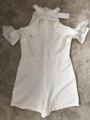 Alter Sukienka z falbanami w kolorze białej wełny
