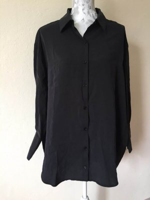 Neu Oversize-Popeline-Hemd mit voluminösen Ärmeln passt 36-40