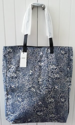 NEU OVP Shopper große Tasche Canvas blau weiß ICHI