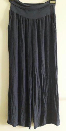 Made in Italy Pallazzobroek donkerblauw Viscose