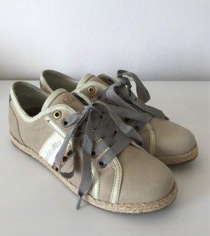 NEU Pantofola d'Oro Elda Low Damen Sneaker 37 Leo Champagne Halbschuh Ballerina