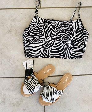 Rubi Shoes Sabots black-white
