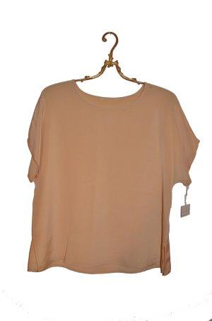Neu! Pastelgelbes Seiden Luxus Shirt Gr. 38 (M)