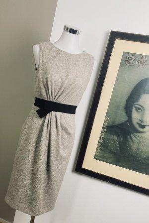 Paule ka Woolen Dress cream-black
