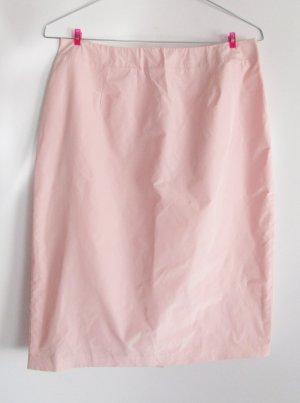 Neu Pencilskirt Rock Heine Größe M 38 Ballonseide Puder Rose Rosa Nude Raschel Stoff Retro 90er Business Klassisch