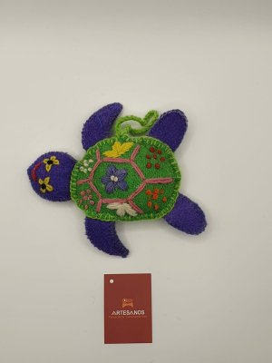 NEU Peru Anhänger Schlüsselanhänger Taschenanhänger Schildkröte blau