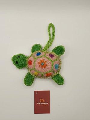 NEU Peru Anhänger Schlüsselanhänger Taschenanhänger Schildkröte grün