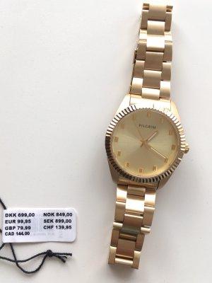 * NEU * PILGRIM Uhr gold vergoldet Bruttoweite: 35 mm Metallband mit Original-Etikett NP 99,95 Euro