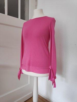 NEU Pinkes rosa Longsleeve Langarmshirt Bluse Größe 36