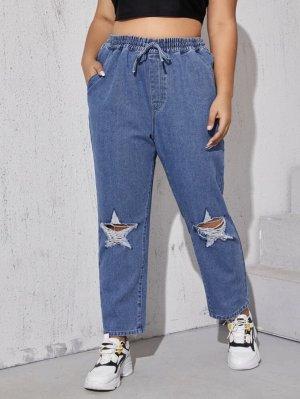 NEU Plus Size Sommer-Jeans Gr.46 blau leichte Hose