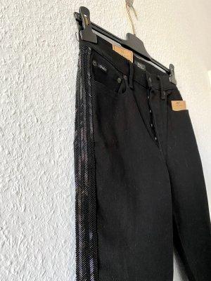Polo Ralph Lauren Jeans taille haute noir coton