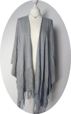 Street One Poncho en tricot gris clair-gris