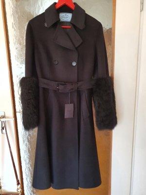NEU Prada Coat Woll mit echt Pelz