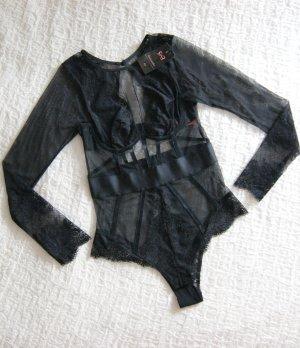 NEU Priscilla Body aus Mesh und Spitze schwarz NP 75€, Dessous Body Rebecca Mir Collection, preppy