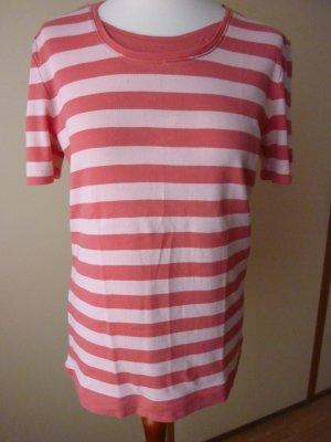 NEU Public Shirt Gr. 42 gestreift Lagenlook apricot koralle rose puder lachs Streifen Ringelshirt top Oberteil clean chic Capsule