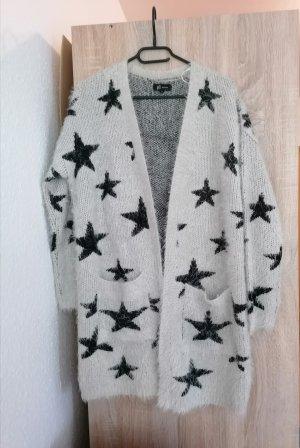 Reserved Polarowy sweter biały-jasnoszary