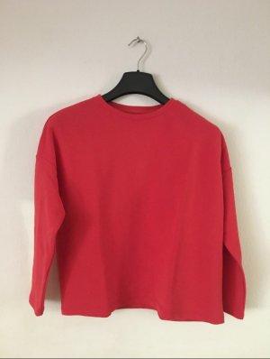 Pull & Bear Lange jumper rood Katoen