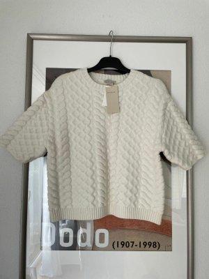 H&M Premium Pull en laine beige clair laine