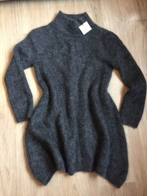 Zara Jersey de lana gris oscuro-gris antracita mohair