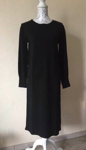 Massimo Dutti Vestito di lana nero Lana