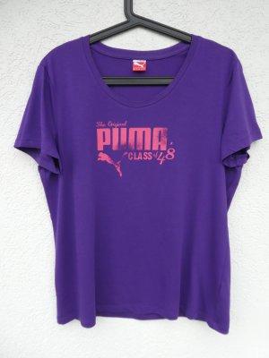 NEU – Puma  – T-Shirt, lila mit rosa Aufdruck