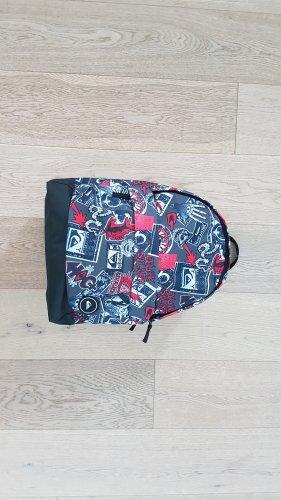 NEU Quiksilver Rucksack NP 39€ Freizeittasche Sporttasche Schulranzen 18 L grau rot schwarz