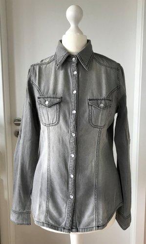 NEU Rainbow Collection Jeans Hemd XS 34 Denim Bluse Jeansbluse Shirt Denimshirt