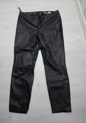 Rainbow Faux Leather Trousers black