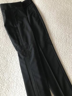 Lauren by Ralph Lauren Drainpipe Trousers black cotton