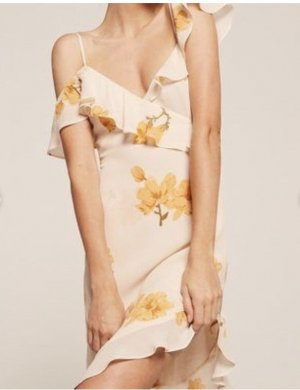 Reformation One Shoulder Dress multicolored
