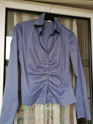Neu René Lezard Bluse Jeans Bluse Business Blau Gr 40 M