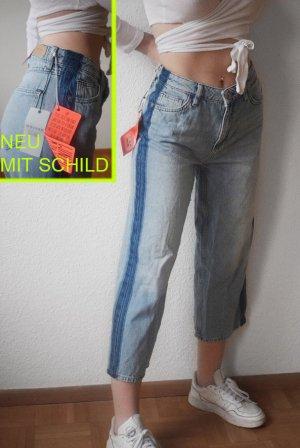 """Neu! Review Denim Jeans """"Bo Boyfriend"""" Wide Leg W27 mit Seitenstreifen"""