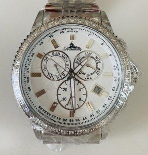 Neu Richtenburg Automatikuhr Uhr Damenuhr silber Stahl Damen