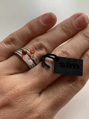 NEU: Ring, Silber mit Perlen, Sim-Schmuck, Gr. 54, Mehrfachring, NP 79€