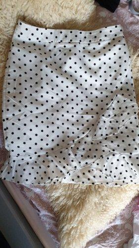 Vera & Lucy Flounce Skirt white-black