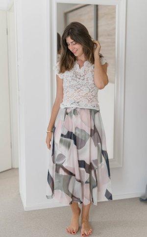 Asymmetry Skirt light pink-light grey