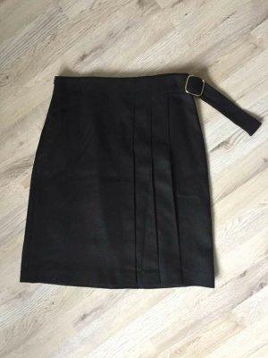 Massimo Dutti Wełniana spódnica czarny Wełna
