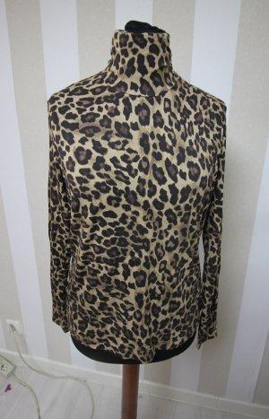 NEU Rollkragen Sweatshirt Pullover leopard animal