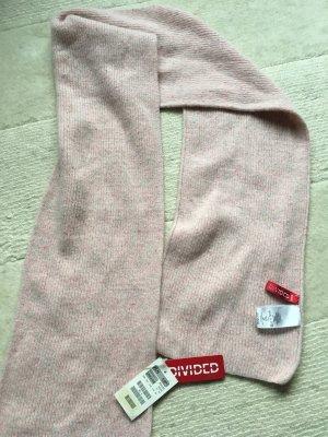 H&M Divided Woolen Scarf pink wool