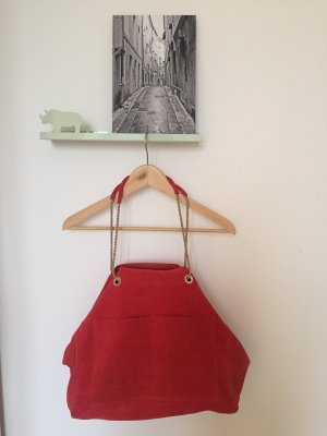 Neu! Rote Wildledertasche Sézane Gaby Bag