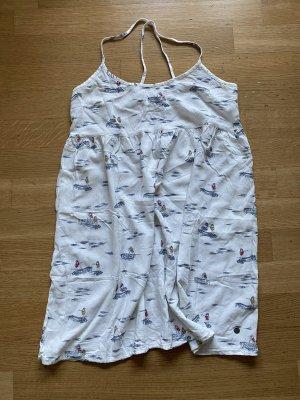NEU Roxy leichtes Sommer Mini print Kleid Gr XS weiß