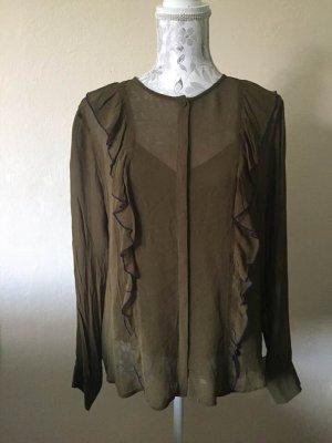 Custommade Bluzka z falbankami Wielokolorowy Wiskoza