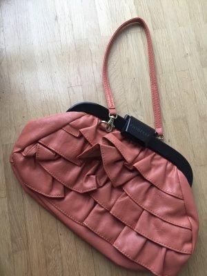 Neu: Rüschen Tasche Ruffle Bag Clutch von Fiorelli, Echtleder