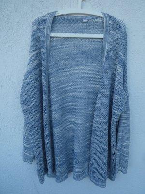 NEU - s.Oliver – Damen Feinstrick-Cardigan, blau-weiß meliert