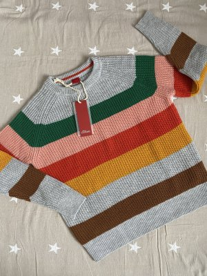 s.Oliver Crochet Sweater multicolored