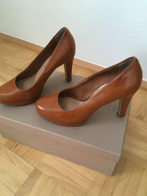 s.Oliver Tacco alto cognac-marrone chiaro