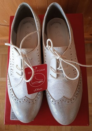 s.Oliver Lace Shoes silver-colored-white