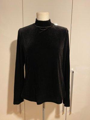 NEU Samt-Pullover Gr.44 Gr.XL schwarz