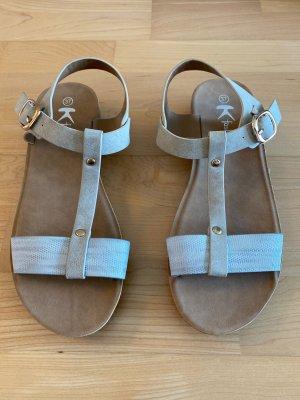 Sandales à lanière argenté-doré